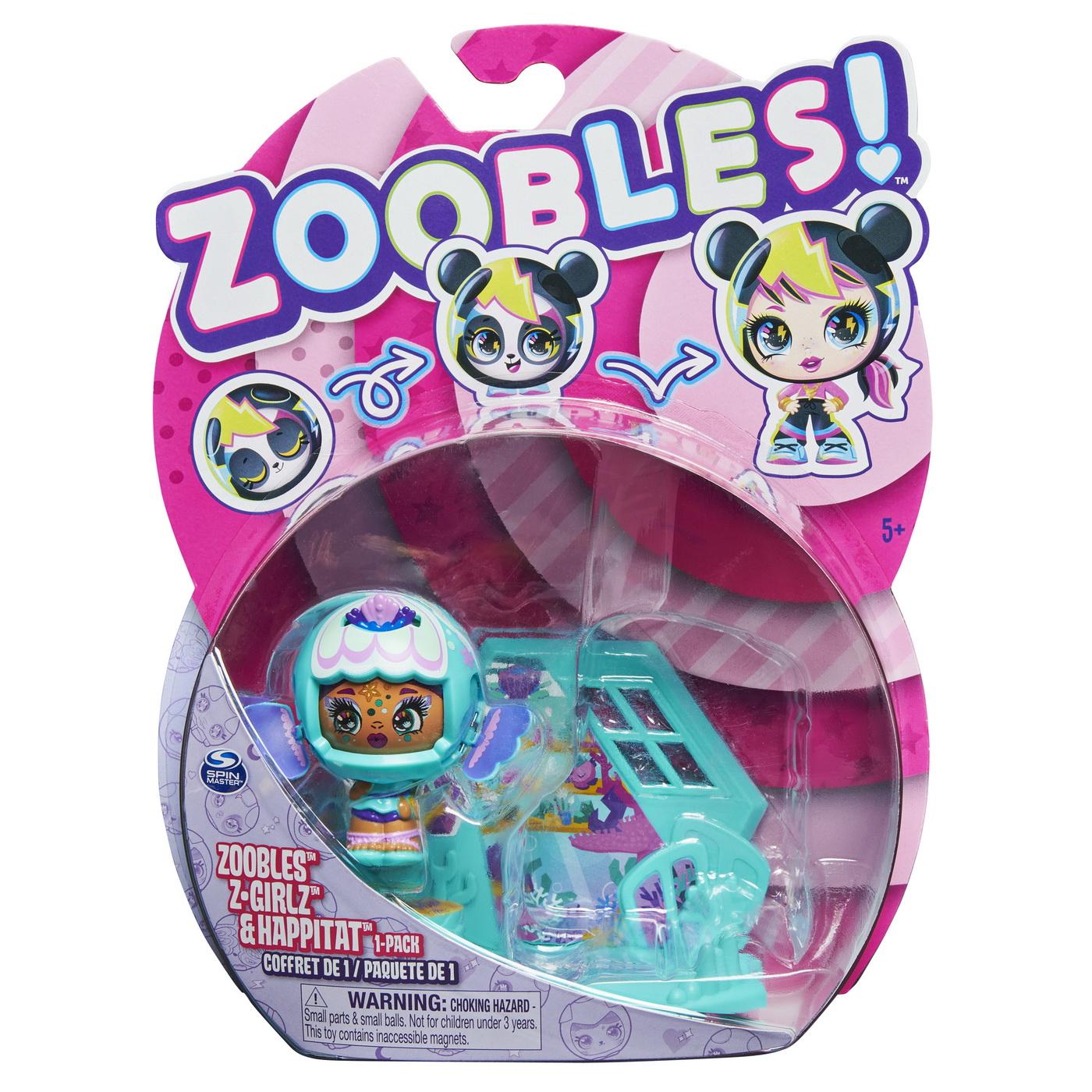 Zoobles z-girlz figurina de transformare fetita peste