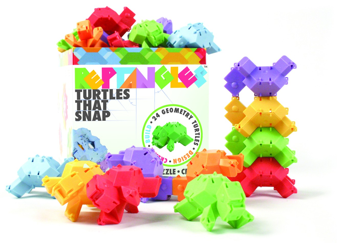 Joc De Constructie Testoasele - Fat Brain Toys