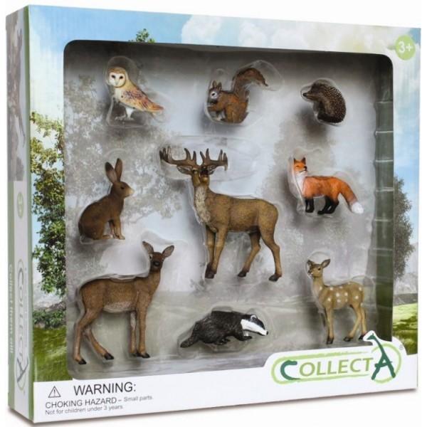 Set 9 Figurine Animale De Padure