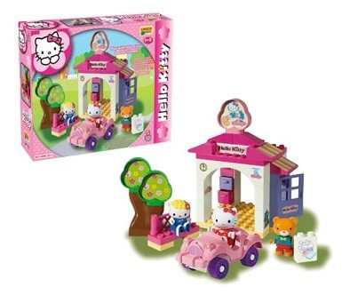 Set Constructie Unico Plus Hello Kitty La Spalatorie