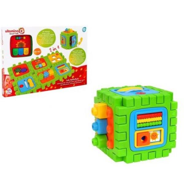 Imagine indisponibila pentru Jucarie Educationala Cub Cu Sortator Globo Vitamina G Si Alte Activitati Interactive