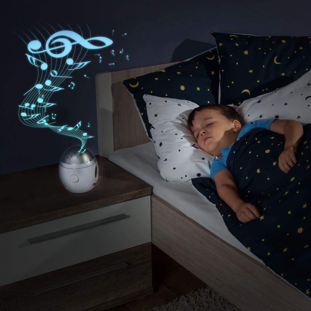 Lampa De Veghe Cu Muzica Si Proiectie De Stele Mymagicstarlight Reer 52050