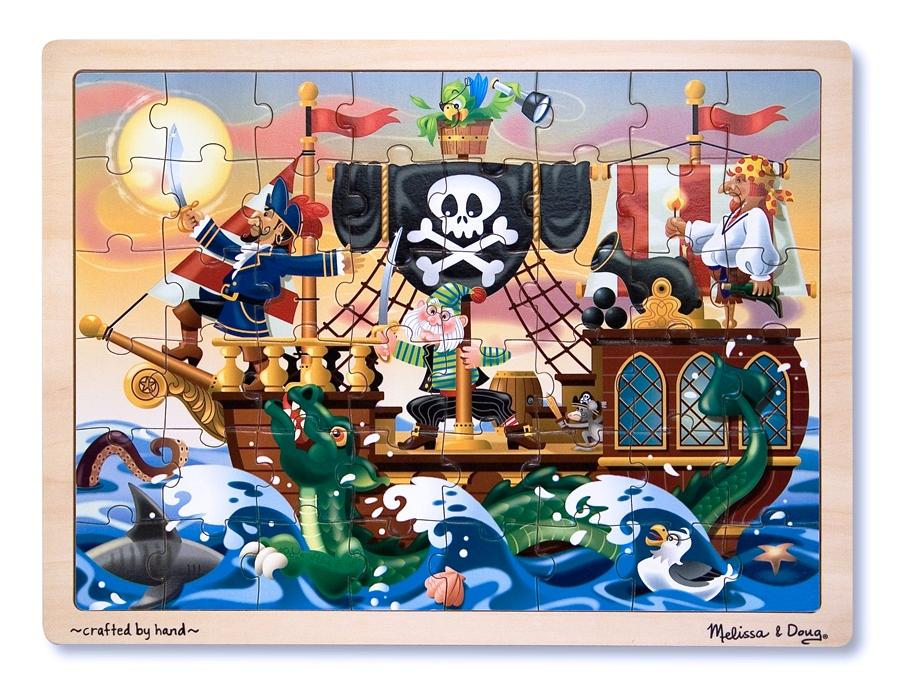 Melissa & Doug – Puzzle Lemn Aventura Piratilor