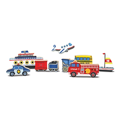 Puzzle Lemn In Relief Mijloace De Transport Melissa And Doug