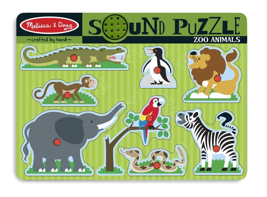 Melissa & Doug – Puzzle De Lemn Cu Sunete Animale De La Zoo