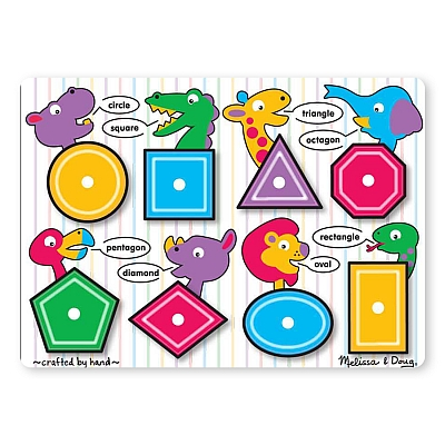 Puzzle Lemn Forme Geometrice Melissa And Doug