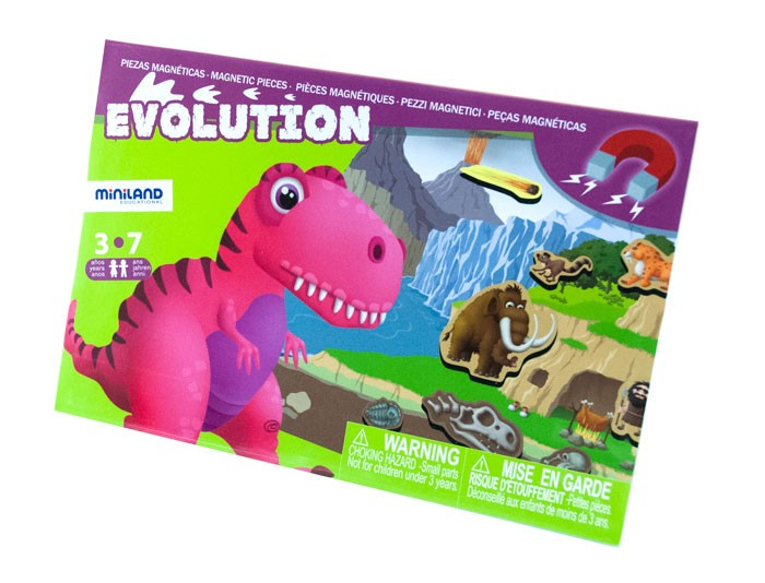 Joc Magnetic Descopera Evolutia Speciilor - Miniland imagine