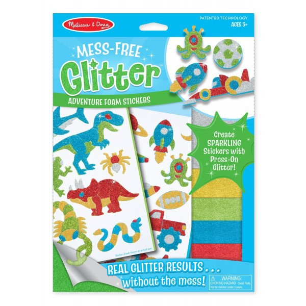 Set Creatie Abtibilduri Cu Sclipici Aventuri Melissa And Doug imagine