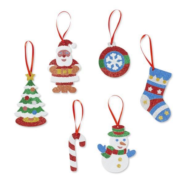 Set Creatie Cu Sclipici Ornamente De Craciun Melissa And Doug