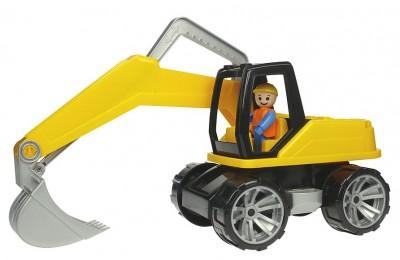 Excavator Din Plastic Cu Figurina 44 Cm Truxx