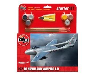 Kit Constructie Si Pictura Avion De Havilland Vampire T11
