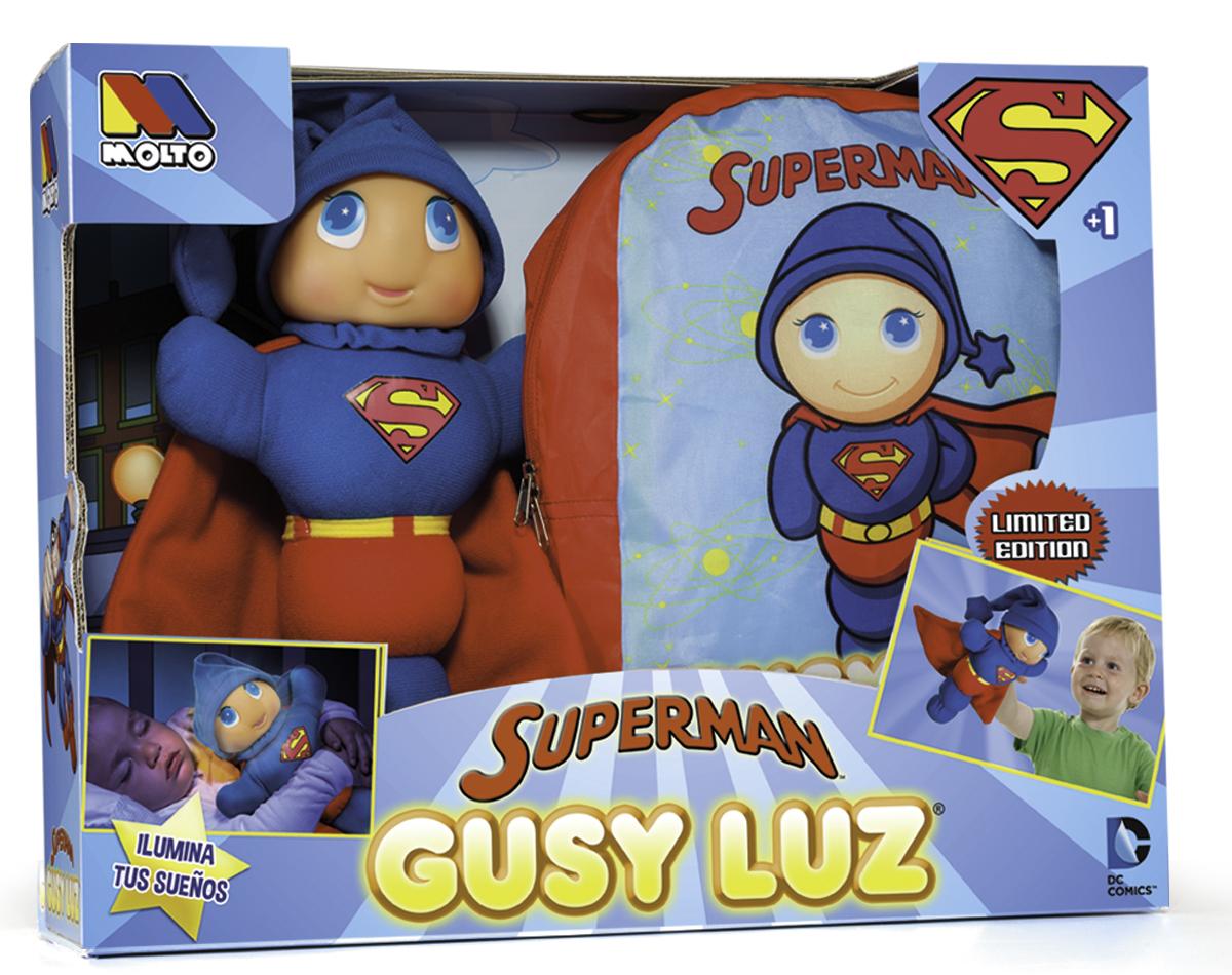 Molto Papusa Gusy Luz SUPERMAN + RUCSAC