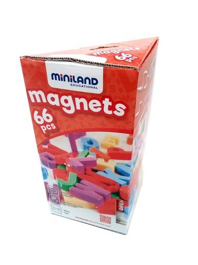Set 66 Litere Mari Magnetice - Miniland imagine