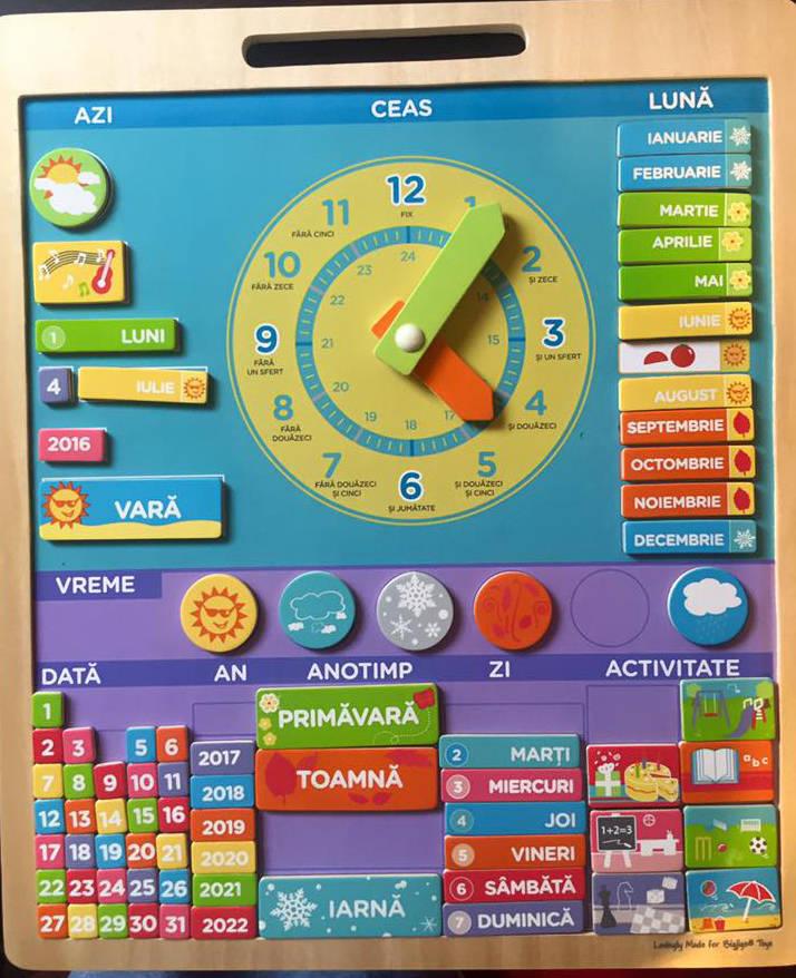 Calendar Magnetic Vremea - Limba Romana