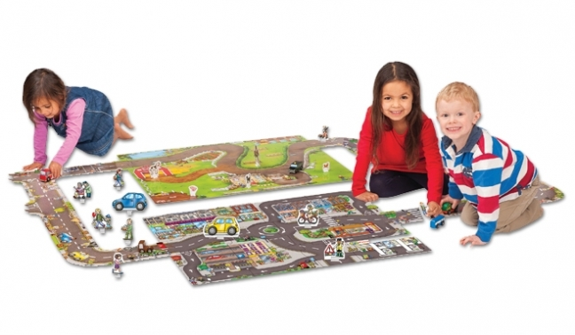 Puzzle Gigant De Podea Traseu Masini (20 Piese) Giant Road Jigsaw