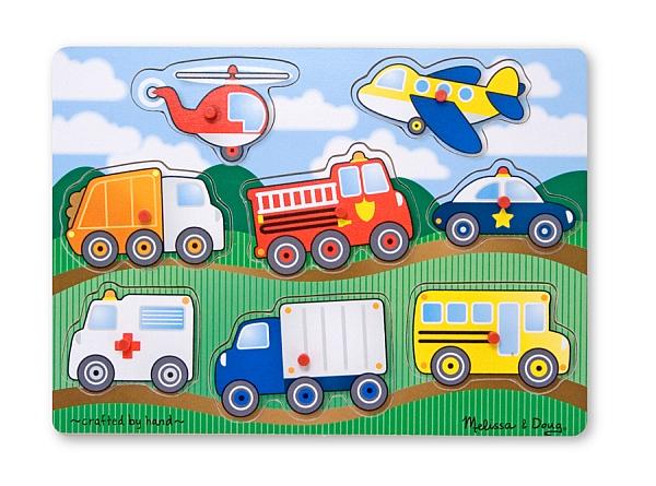 Melissa&doug - Puzzle Lemn Vehicule