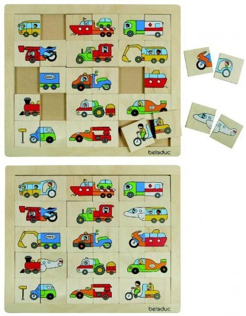 Puzzle Amesteca Si Potriveste Transport