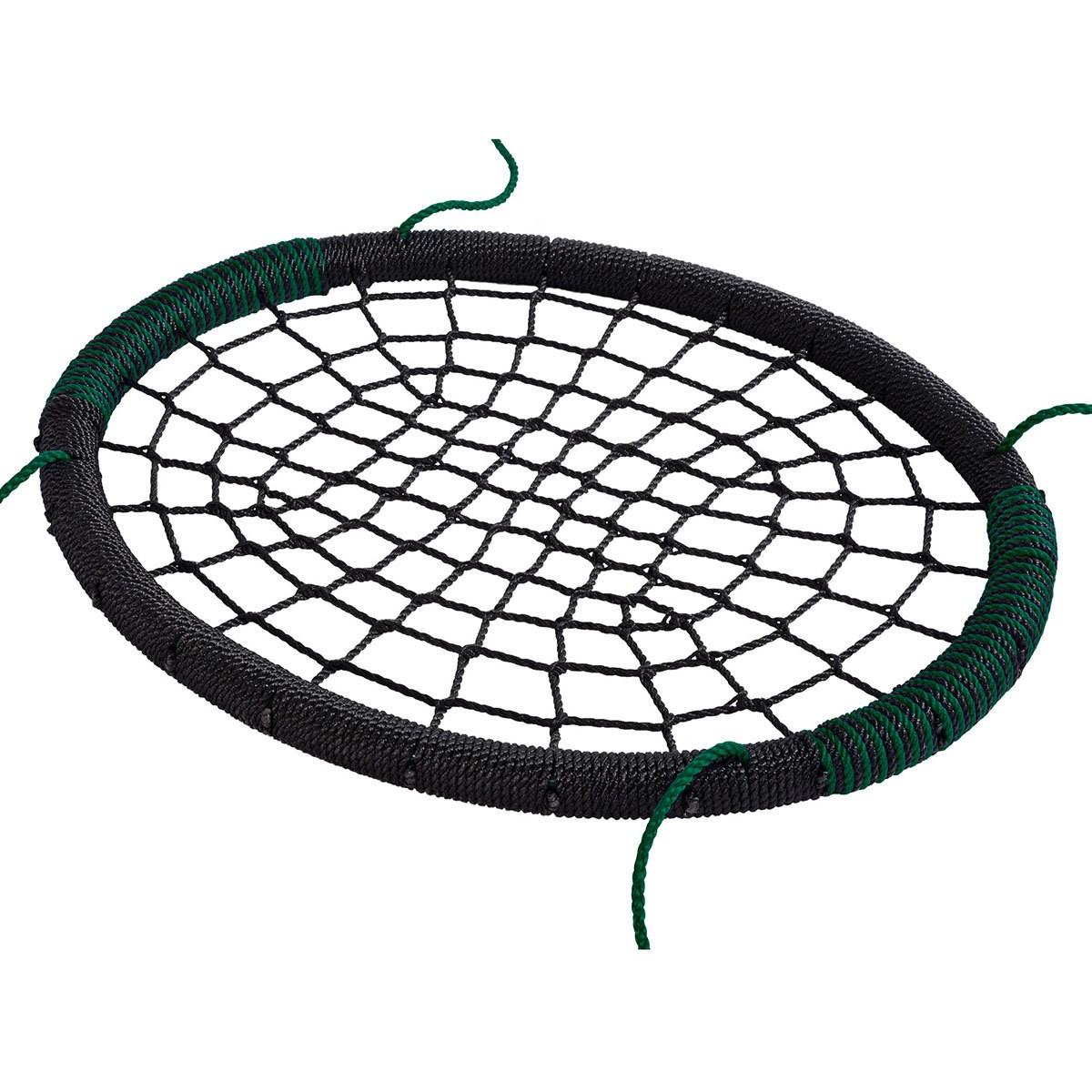 Leagan Cuib Oval Pp Negru Verde
