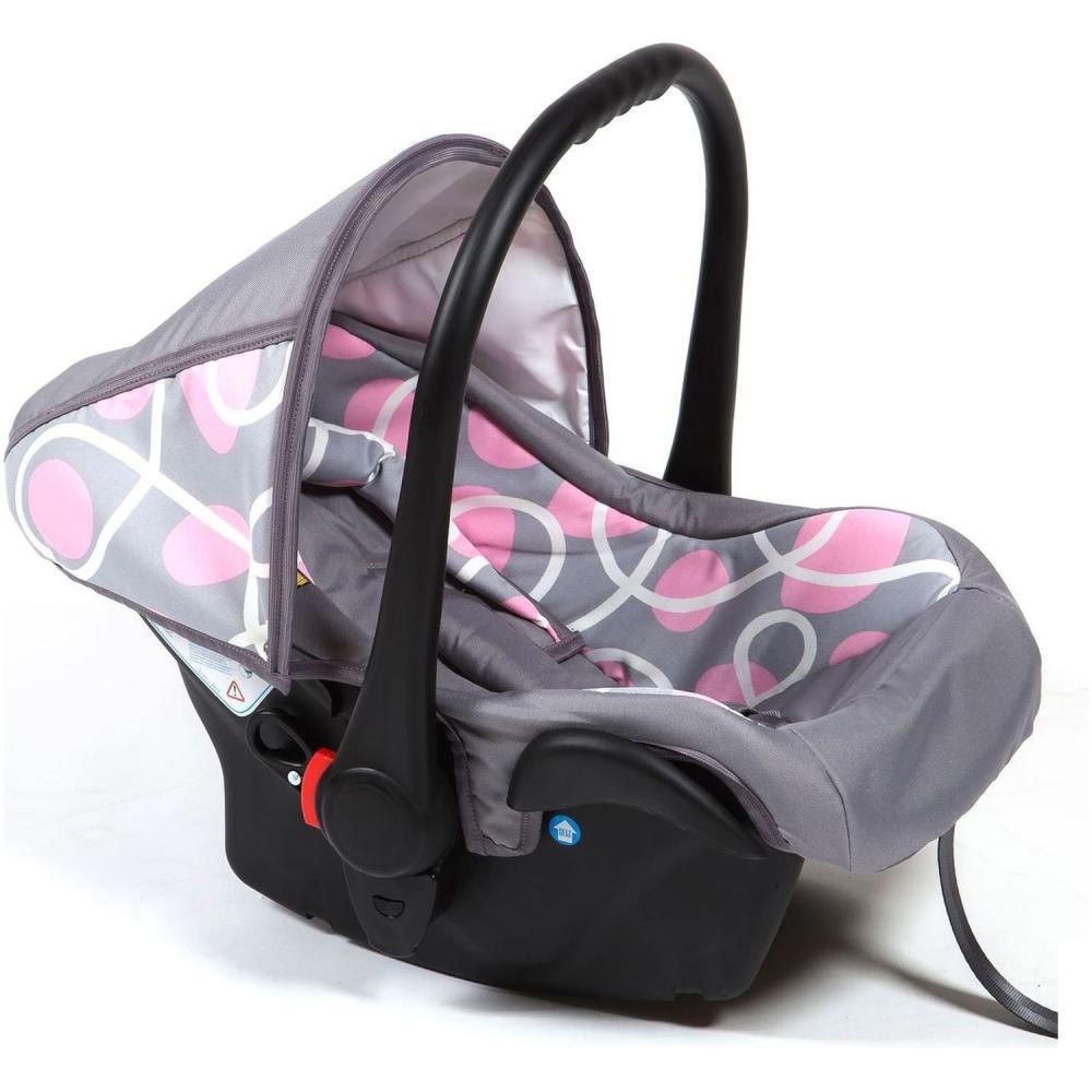 Scaun auto Camarade - Gri cu Cercuri Roz