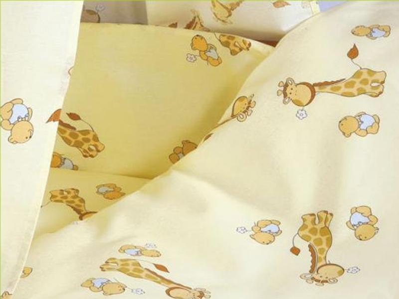Lenjerie Mykids Mini Giraffe Crem 4+1 Piese 120x60