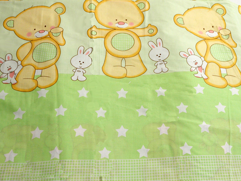 Lenjerie Mykids Teddy Iepuras Verde 4+1 Piese 140x70