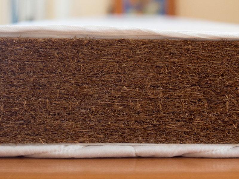Saltea Mykids Fibra De Cocos Integral 120x60x10 Husa Alba