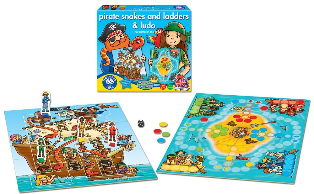 Joc De Societate Piratii Pirate Snakes And Ladders & Ludo