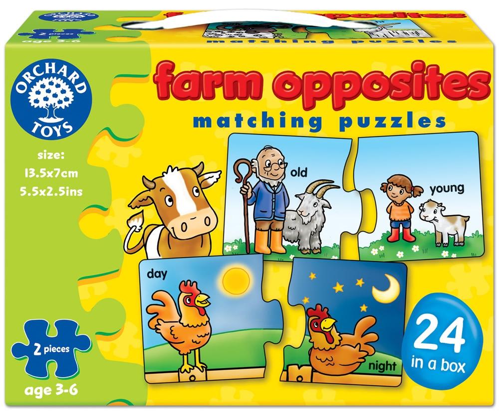 Joc Educativ - Puzzle In Limba Engleza Farm Opposites