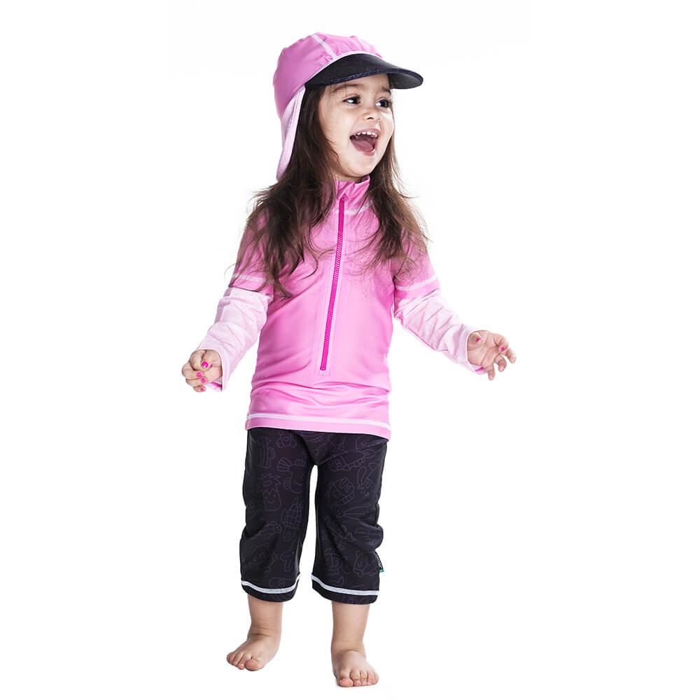 Costum De Baie Pink Ocean Marime 74- 80 Protectie Uv Swimpy