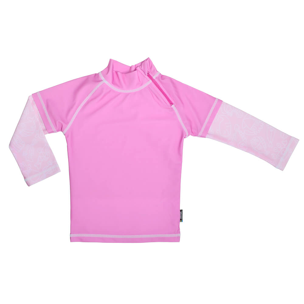 Tricou De Baie Pink Ocean Marimea 122- 128 Protectie Uv Swimpy