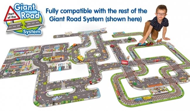 Puzzle Gigant De Podea Statie De Tren (8 Piese) Giant Road Expansion Pack Station