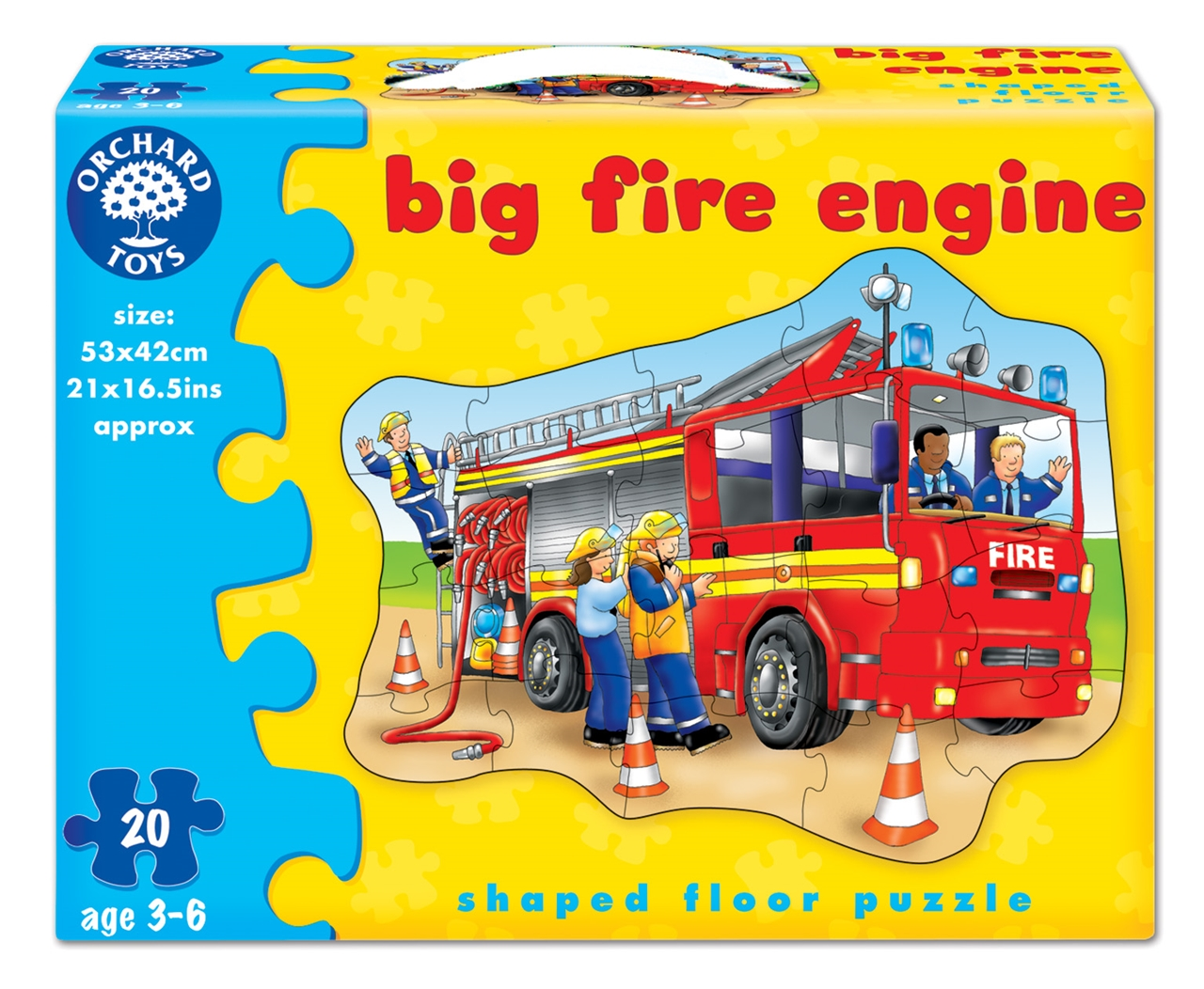Puzzle De Podea Masina De Pompieri (20 Piese) Big Fire Engine