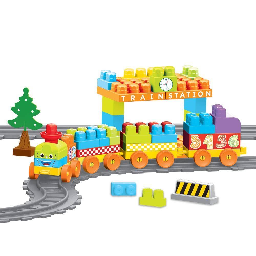 Set De Constructii Cu Trenulet - 89 Piese imagine