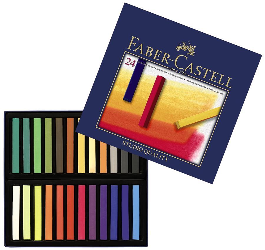 Cutie Creioane Pastel Soft Faber-castell 24 Culori