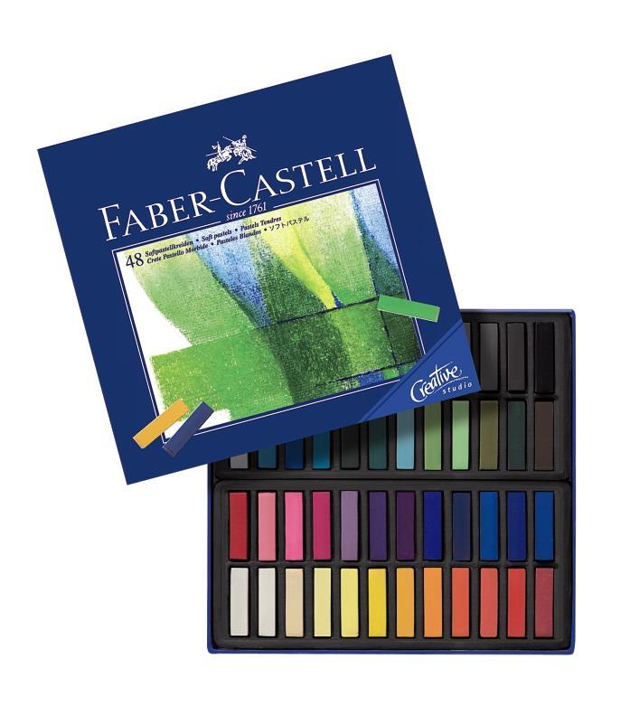 Cutie Creioane Pastel Soft Mini Faber-castell 48 Culori
