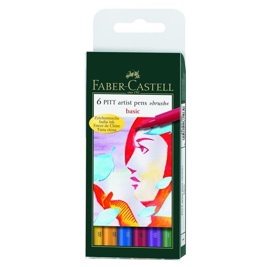 Pitt Artist Pen Set Faber-castell 6 Buc, Nuante Natural