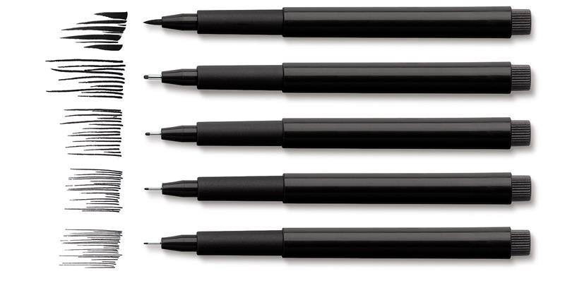 Pitt Artist Pen Faber-castell 6 Buc M, F, S, Xs, B, C