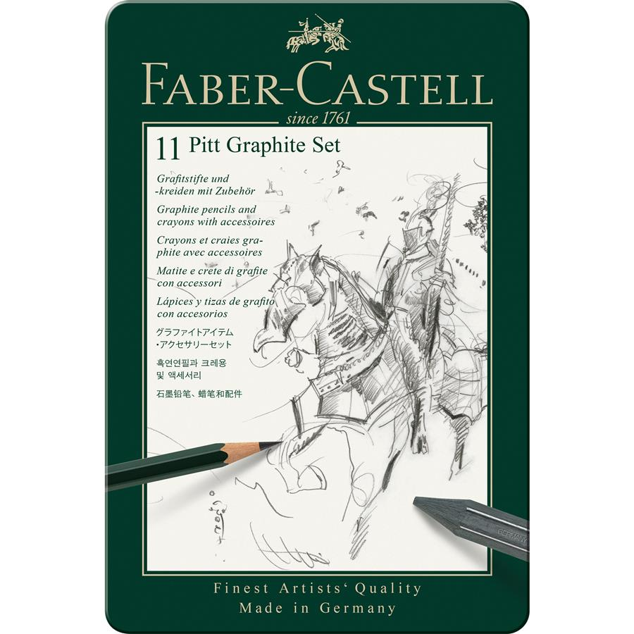 Set Pitt Monochrome Grafit 11 Buc Faber-castell