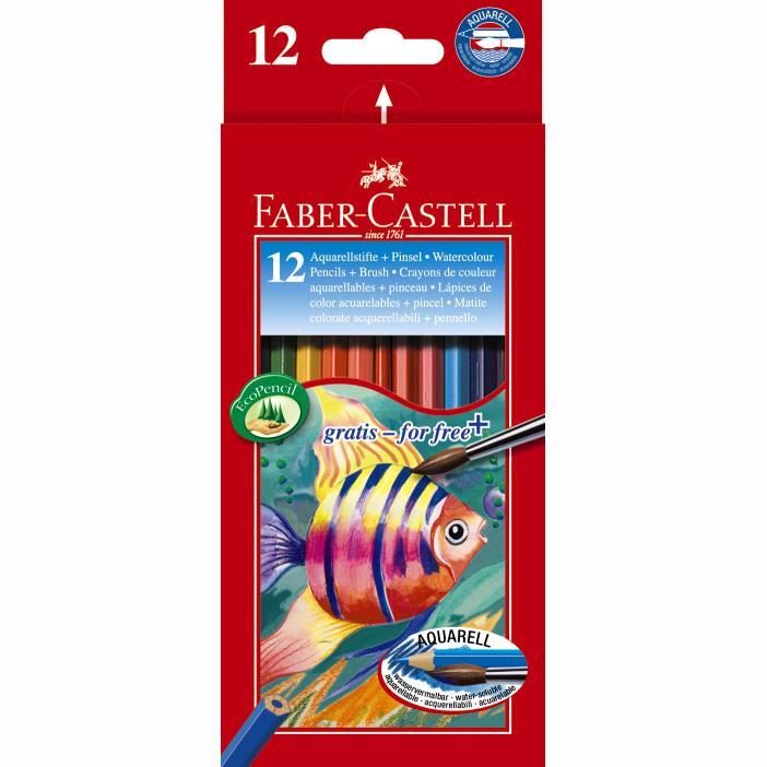 Creioane Colorate Acuarela Cu Pensula Faber-castell 36 Buc Cu Pensula
