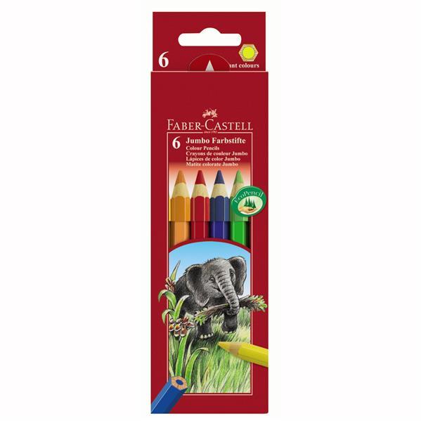 Creioane Colorate Jumbo Faber-castell 12 Culori imagine
