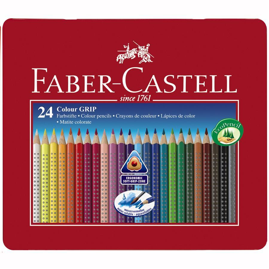 Creioane Colorate Grip 2001 Faber-castell 36 Culori / Cutie Metal