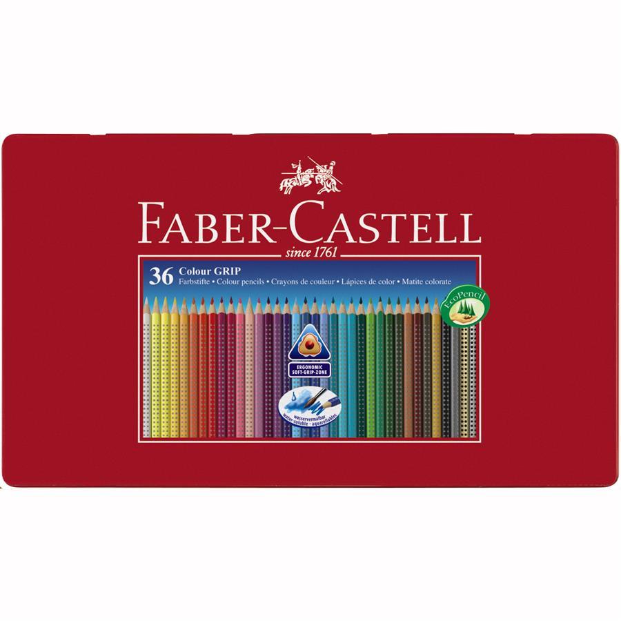 Creioane Colorate Grip 2001 Faber-castell 36 Culori / Cutie Cadou