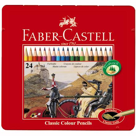 Creioane Colorate In Cutie Metal Faber-castell 36 Culori / Cutie Metal