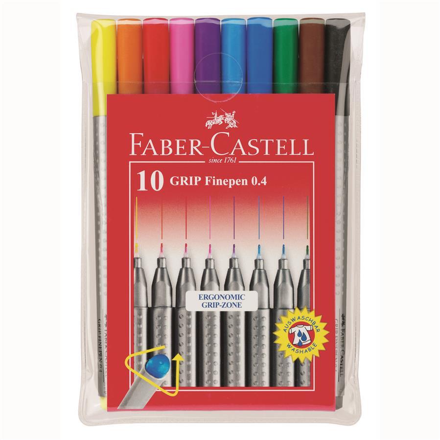 Liner 0.4 Mm Grip Set Faber-castell Set 20 Culori