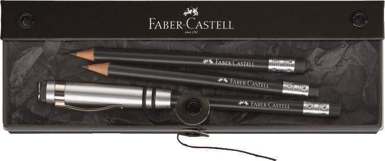 Set Cadou Perfect Pencil Design Faber-castell Negru imagine