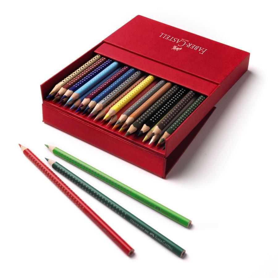 Creioane Colorate 36 Culori Cutie Cadou Grip 2001 Faber-castell