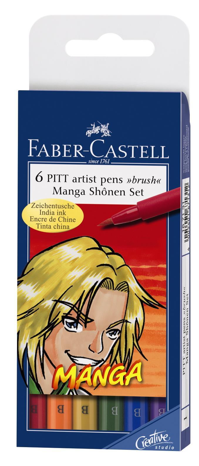 Pitt Artist Pen Manga Set Shonen Faber-castell