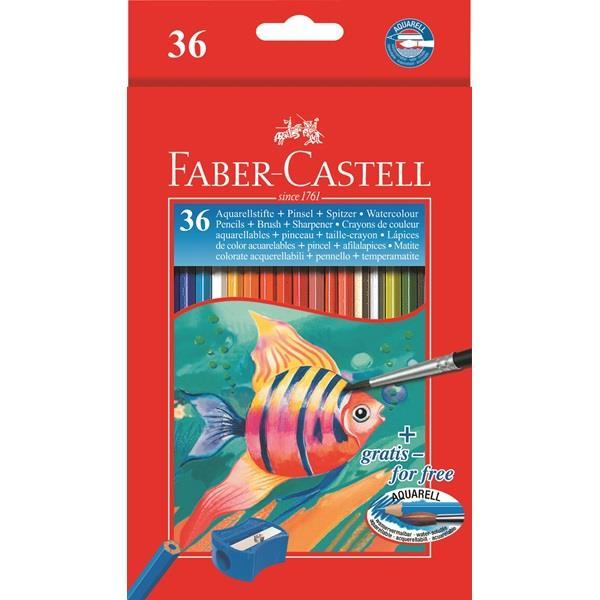 Creioane Colorate Acuarela Cu Pensula Faber-castell 48 Buc Cu Pensula