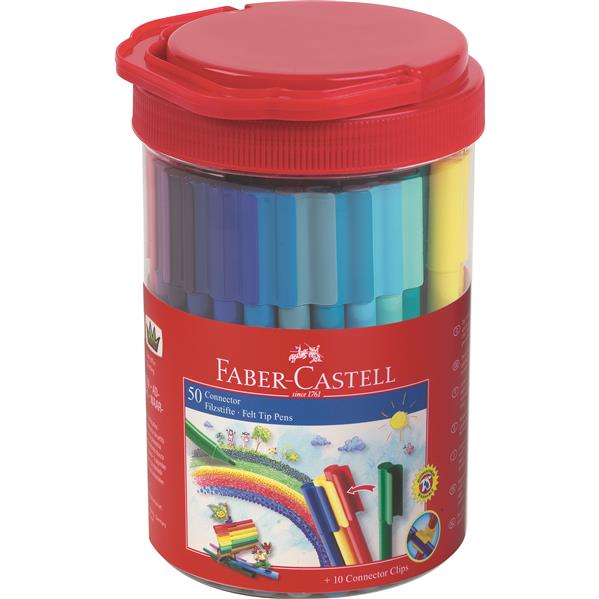 Carioca 50 Culori Connector Borcan Faber-castell imagine