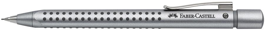 Creion Mecanic 0.7 Mm Argintiu Grip 2011 Faber-castell